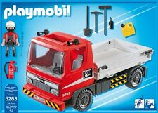 Playmobil City Action 5283 Flatbed Construction Truck