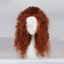 Brave Princess Merida Disney Cosplay Perücke wig Braun Locken Curly Perruque