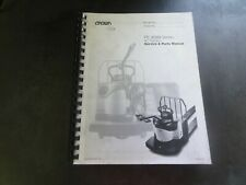 Crown Lift Trucks PE 4500 AC Traction Series Forklift Service & Parts Manual