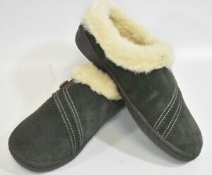 Clarks Comfort Shoes Lined With Fur Size 6 slippers slide ons new rare leather