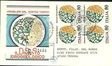 ITALIA BUSTA FDC  Filagrano QUARTINA IDROGEOLOGICO 1981 ANNULLO ROMA FDC