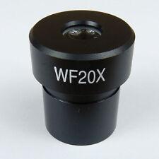 Single 1pc WF20X 20x WF20 Biological Compound Microscope Eyepiece 23mm