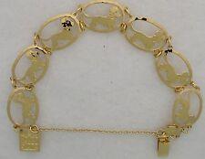 Dandie Dinmont Terrier Jewelry Gold Bracelet by Touchstone Dog Designs