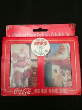 Coca Cola Holiday Limited Edition Playing Cards in Collectible Tin - New In Box!