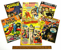 Vintage COMIC BOOK Lot; 6 Silver & Bronze FLASH New Gods WONDER WOMAN Scooter ++