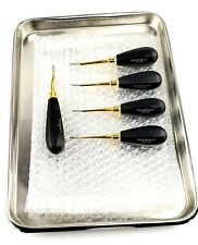 5 Lux Elevator 77 R With 2 To 5 Mm Curved With Tray German Black Handle Dental