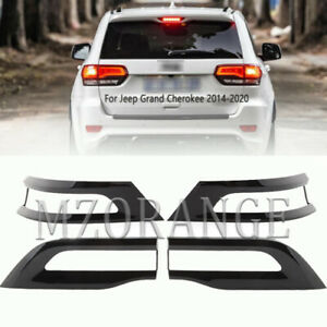 For Jeep Grand Cherokee 2014 2015 2016 17-2020 Gloss Tail Light Trim Bezel Cover