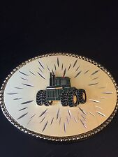Tractor Belt Buckle W USA Emblem Affixed to Body Colorful