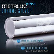 "60"" x 96"" In Silver Chrome Mirror Vinyl Wrap Film Sticker Decal Air Bubble Free"
