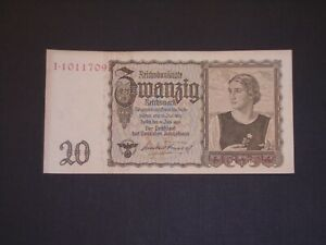 GERMANY 1939 20 MARKS CIRCULATED BANKNOTE  P-185