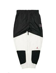 Nike Air Jordan Legacy AJ 11 Men's Joggers Pants Black White CU1504-010 SIZE MED
