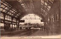 FRANCE - TRAIN STATION RAILROAD RR Dijon Le Hall de la Gare Postcard