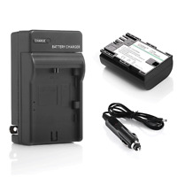 Decoded LPE6 LP-E6 Battery + Charger For Canon EOS 7D 70D 6D 60D 5D Mark II III