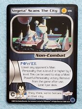 2001 Dragonball Z CCG Trunks Saga #126 VEGETA SCANS THE CITY Ltd Ed NM