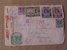 WWII FLYING TIGERS AVG 1941 COVER PILOT RANGOON BURMA REGISTERED EXPERIMENTAL
