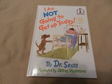 I Am Not Going To Get Up Today! by Dr. Seuss Beginner Books 1987 BN