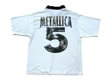 90s Vintage 1996 Metallica Giant Football Soccer Jersey Polo Heavy Metal Band T
