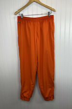 Lacoste Sport Track Athletic Lined Pants Size 5 Medium Orange Zip Bottoms