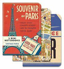 Cavallini - 3 Mini Notebooks - Vintage Paris - Lined, Blank & Graph Interiors
