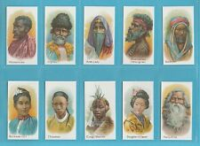 NATIONS - NOSTALGIA CLASSIC REPRINTS - 10 SETS OF 25 TADDY -NATIVES OF THE WORLD