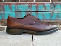 Mephisto Mens Marlon Oxford Shoes 10.5 Brown Pebbled Leather Air Relax