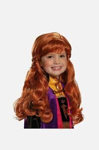 Disney Frozen 2 Anna Child Wig Licensed Costume Accessory Disguise 7EKHzp1