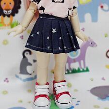 bjd yosd 1/6 doll clothes, Skirt pleated galaxy indigo navy