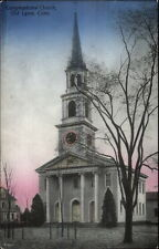 Old Lyme CT Cong Church c1910 Postcard #2