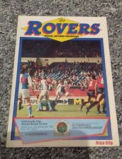 287) Blackburn Rovers v Liverpool programme Littlewoods cup 23-9-1987