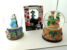 Lot 3x Disney Musical Snow Globes - 2016 Mickey Mouse Cinderella Little Mermaid