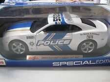 1:18 SCALE MAISTO 2010 CHEVROLET CAMARO SS RS POLICE CAR MODEL SPECIAL EDITION