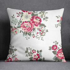 S4Sassy Decorative White Floral Print Pillow Case Throw Cushion Cover