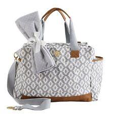 NWT Mud Pie Geo Dot Large Baby Diaper Bag  Infant Boy Girl Unisex Gray Grey
