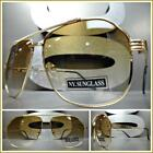 Men's or Women Classic Vintage Retro Style SUN GLASSES Classy Elegant Gold Frame