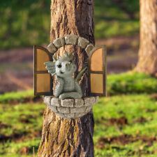 Resin Fairy Garden Dragon Statues Sculpture Outdoor Art Porch Yard Ornaments