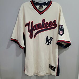 Rare VTG Majestic Cooperstown NY Yankees 1952 World Series Throwback Jersey 2XL