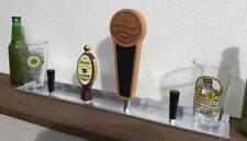 Beer TAP HANDLE Display & Storage SHELF // Home Brewery / Kegs / Taps / Man Cave