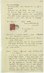 NYASALAND -1939 COURT Document with £1 KGVI (ES573b)