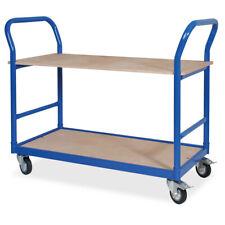 Tischwagen mit MDF-Platte 250 kg Traglast 2 Ladeflächen 590x 985 mm