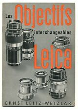 Les Objectifs interchangeables Leica libretto illustrativo 1937 in francese E800