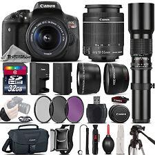 Canon EOS Rebel T6i 750D DSLR Camera + 18-55mm IS STM + 500mm - Best Value Kit