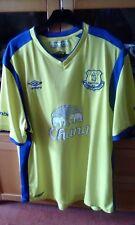 Umbro Everton Short Sleeve Football Shirt Size XXL Chang Sponsor