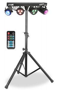 """MAX """"Partybar1"""" LED Lichtanlage mit Stativ und IR-Fernbedienung! Lichtset! RGBW!"""