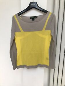 shanghai tang Yellow And Taupe Jumper Size Medium