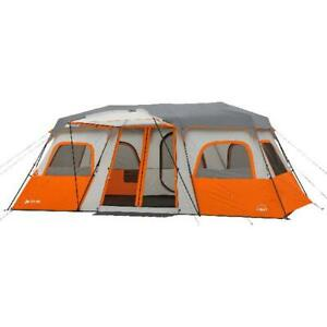 Instant Cabin Tent Integrated LED Light 12 Person Outdoor Room Camping Shelter