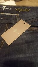 Seven 7 for all mankind Womens A pocket Size 30 Blue Jeans A
