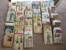 Vintage Dress Sewing Pattern Vogue, Simplicity, Butterick, Used Opend Lot Of 32