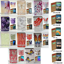 For HTC One X9 10 M9 M8 Desire 820 626 Butterflies Print Wallet Phone Case Cover