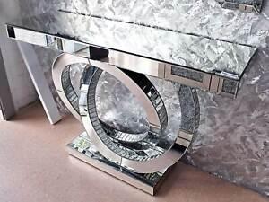 Spiegel Kommode Konsole Anrichte Schlafzimmer Luxus Spiegelmöbel Silber Luxus