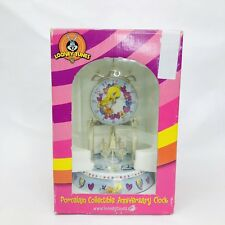 """Looney Tunes Tweety Bird Porcelain Anniversary Collectible Clock Glass Dome 9"""""""